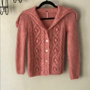 Free People flower button cardigan sweater Size XS